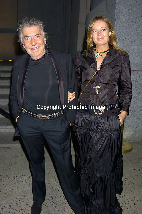 Roberto Cavalli and Eva ..at The Sheryl Crow Concert at The Cipriani Wall Street Concert on April 26, 2005 at Ciprianis on Wall Street. ..Photo by Robin Platzer, Twin Images
