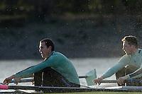 PUTNEY, LONDON, ENGLAND, 05.03.2006, Cambridge, CUBC, B No.5 Sebastian Schulte, No.6 Kieran West, Pre 2006 Boat Race Fixtures,.   © Peter Spurrier/Intersport-images.com, [Mandatory Credit Peter Spurrier/ Intersport Images] Varsity Boat Race, Rowing Course: River Thames, Championship course, Putney to Mortlake 4.25 Miles