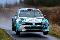 2nd February 2020; Galway, Galway, Ireland; Irish Tarmac Rally Championship, Galway International Rally;  Meirion Evans and Jonathan Jackson (Volkswagen Polo GTI R5) finish the rally in 4th place overall