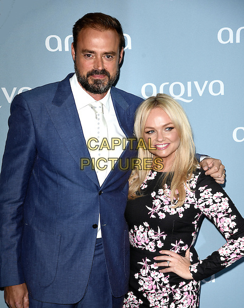 LONDON, ENGLAND - Jamie Theakston and Emma Bunton at the Arqiva Commercial Radio Awards at the Roundhouse, Camden, London on July 8th 2015<br /> CAP/MB/PP<br /> &copy;Michael Ball/PP/Capital Pictures