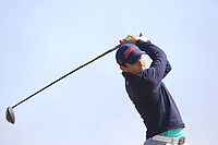 Marc Nolan (Dun Laoghaire) on the 17th tee during Round 2 - Strokeplay of the North of Ireland Championship at Royal Portrush Golf Club, Portrush, Co. Antrim on Tuesday 10th July 2018.<br /> Picture:  Thos Caffrey / Golffile