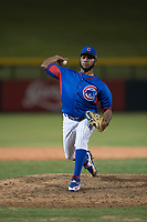 AZL Cubs 2 relief pitcher Andry Rondon (99) delivers a pitch during an Arizona League game against the AZL Rangers at Sloan Park on July 7, 2018 in Mesa, Arizona. AZL Rangers defeated AZL Cubs 2 11-2. (Zachary Lucy/Four Seam Images)