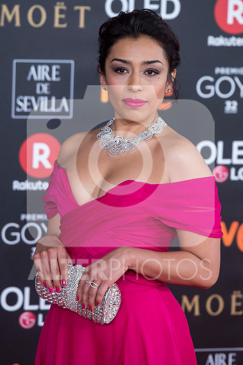 Adriana Paz attends red carpet of Goya Cinema Awards 2018 at Madrid Marriott Auditorium in Madrid , Spain. February 03, 2018. (ALTERPHOTOS/Borja B.Hojas)