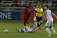 LAKEWOOD RANCH, Florida – Wednesday, November 30, 2016: The U.S. Men's National team U-17s vs Portugal. 2016 Nike International Friendlies at Premier Sports Campus.