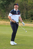 Thomas Sloman (GB&I) on the 18th during Day 2 Singles at the Walker Cup, Royal Liverpool Golf CLub, Hoylake, Cheshire, England. 08/09/2019.<br /> Picture Thos Caffrey / Golffile.ie<br /> <br /> All photo usage must carry mandatory copyright credit (© Golffile | Thos Caffrey)
