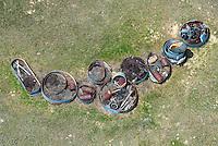 Farmland junk piles. Colorado eastern plains.