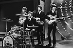 The Beatles June 16 1966 on Top Of The Pops, their only live in studio appearance on the show, where the performed Paperback Writer and Rain. John Lennon Ringo Starr, Paul McCartney and Heorge Harrison.<br /> © Chris Walter