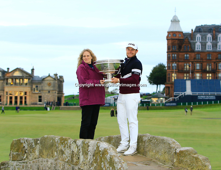 Tyrrell HATTON (ENG) is the 2017 Alfred Dunhill Links Championship. The final round was played over the Old Course at St Andrews: Picture Stuart Adams, www.golftourimages.com: \08/10/2017\
