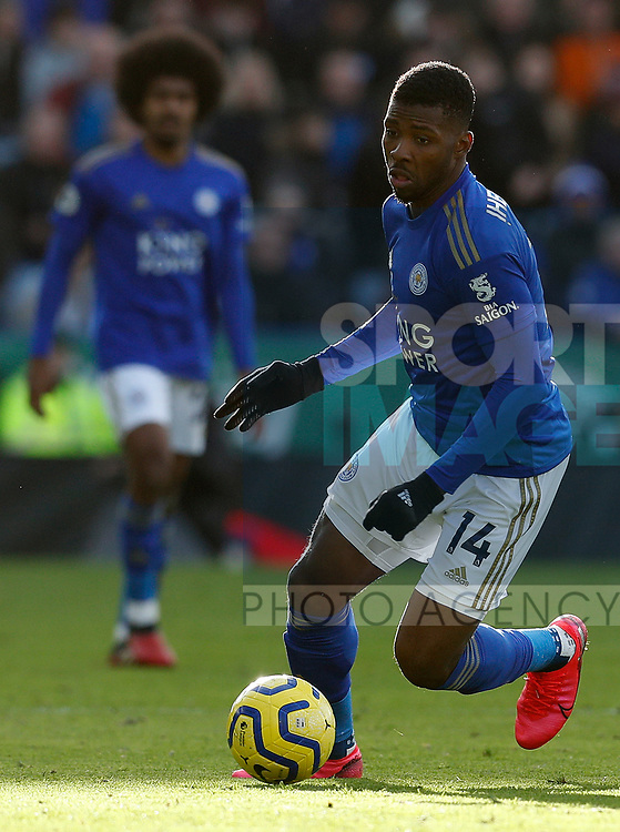 Kelechi Iheanacho of Leicester City during the Premier League match against Chelsea at the King Power Stadium, Leicester. Picture date: 1st February 2020. Picture credit should read: Darren Staples/Sportimage