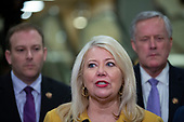 United States Representative Debbie Lesko (Republican of Arizona) speaks to members of the media during a dinner break in the impeachment trial of United States President Donald J. Trump at the United States Capitol in Washington D.C., U.S., on Monday, January 27, 2020.<br />  <br /> Credit: Stefani Reynolds / CNP