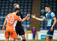 Jack Payne of Blackpool and Luke O'Nien of Wycombe Wanderers shake hands during the Sky Bet League 2 match between Wycombe Wanderers and Blackpool at Adams Park, High Wycombe, England on the 11th March 2017. Photo by Liam McAvoy.
