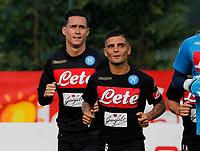 Jose Callejon Lorenzo Insigne  durante il  ritiro precampionato del SSC Napoli a Dimaro<br />  05 Luglio  2017