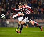 Nederland, Eindhoven,16 maart  2013.Eredivisie .Seizoen 2012-2013.PSV-RKC Waalwijk.Tim Matavz van PSV schiet de bal net naast