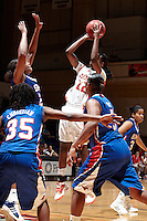SAN ANTONIO, TX - NOVEMBER 21, 2010: The Southern Methodist University Mustangs vs. The University of Texas at San Antonio Roadrunners Women's Basketball at the UTSA Convocation Center. (Photo by Jeff Huehn)