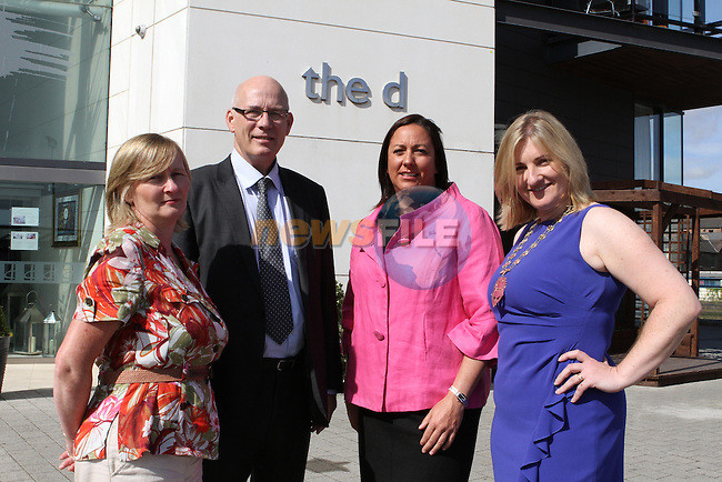 Kathleen Dodd from Enterprise Ireland, Dundalk, Ronan Dennedy, CEO of Louth County Enterprise Board, Nicola Watkins, President of Network Louth Meath and Louisa Maher, President of Network Ireland as Network Ireland Announces National Conference and Business Women of the Year Awards at the d Hotel....Photo NEWSFILE/Jenny Matthews.