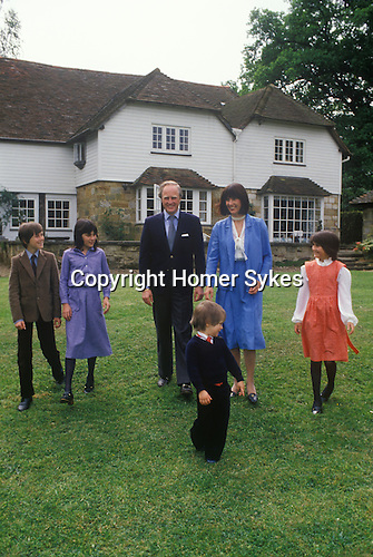Winston Churchill and family 1970s Sussex home Uk