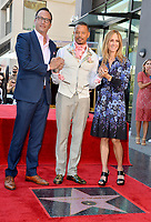 LOS ANGELES, USA. September 24, 2019: Terrence Howard with Fox's Charlie Collier and Dana Walden at Hollywood Walk of Fame Star Ceremony for actor Terrence Howard.<br /> Picture: Paul Smith/Featureflash