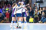 Mannheim, Germany, November 29: During the Bundesliga indoor women hockey match between Mannheimer HC and TSV Mannheim on November 29, 2019 at Irma-Roechling-Halle in Mannheim, Germany. Final score 4-4. Stine Kurz #27 of Mannheimer HC<br /> <br /> Foto © PIX-Sportfotos *** Foto ist honorarpflichtig! *** Auf Anfrage in hoeherer Qualitaet/Aufloesung. Belegexemplar erbeten. Veroeffentlichung ausschliesslich fuer journalistisch-publizistische Zwecke. For editorial use only.