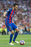 Sergio Busquets of FC Barcelona during the match of La Liga between Real Madrid and Futbol Club Barcelona at Santiago Bernabeu Stadium  in Madrid, Spain. April 23, 2017. (ALTERPHOTOS)