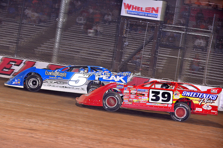 Jun 5, 2014; 8:47:59 PM; Rossburg, OH., USA; The 20th annual Dirt Late Model Dream XX in an expanded format for Eldora's $100,000-to-win race includes two nights of double features, 567 laps of action  Mandatory Credit:(thesportswire.net)