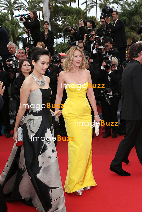 CPE/Actress Zhang Ziyi and Jury member Ludivine Sagnier attends 'The Bling Ring' premiere during The 66th Annual Cannes Film Festival at the Palais des Festivals on May 16, 2013 in Cannes, France.
