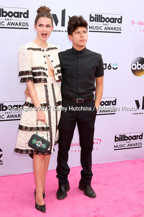 LAS VEGAS - MAY 21:  Maia Mitchell, Rudy Mancuso at the 2017 Billboard Music Awards - Arrivals at the T-Mobile Arena on May 21, 2017 in Las Vegas, NV