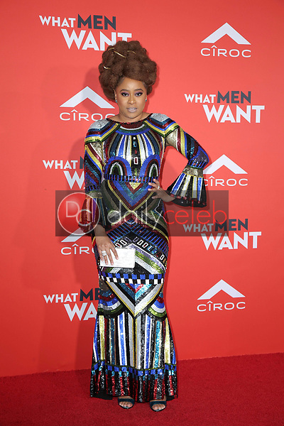 """Phoebe Robinson<br /> at the """"What Men Want"""" Premiere, Village Theater, Westwood, CA 01-28-19<br /> David Edwards/DailyCeleb.com 818-249-4998"""