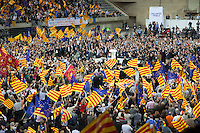 Spagna Barcellona  Elezioni all'assemblea catalana 25 Novembre 2012 comizio preelettorale della federación Convergència i Unió