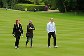 Mike Tindall  and his wife Zara Phillips during the ProAm ahead of the 2016 BMW PGA Championships played over the West Course Wentworth from 26th to 29th May 2016. Picture Stuart Adams, www.golftourimages.com: 25/05/2016