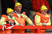 Disappointed Grimsby fans look on during Crawley Town vs Grimsby Town, Sky Bet EFL League 2 Football at Broadfield Stadium on 9th March 2019