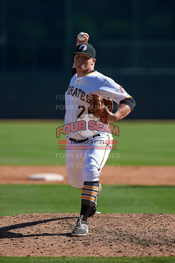 Glendale Desert Dogs pitcher Brett McKinney (26) delivers a pitch during an Arizona Fall League game against the Surprise Saguaros on October 24, 2015 at Camelback Ranch in Glendale, Arizona.  Surprise defeated Glendale 18-3.  (Mike Janes/Four Seam Images)