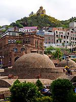 Taborkloster und Bäderviertel Abanotubani, Tiflis – Tbilissi, Georgien, Europa<br /> Tabor monastery and  thermal quarter Abanotuban, Tbilisi, Georgia, Europe