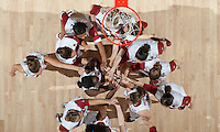 STANFORD, CA - March 3, 2010: Stanford Cardinal team huddle during Stanford's 75-51 win over the University of California at Maples Pavilion in Stanford, California.