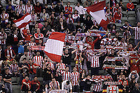 BM Atletico de Madrid's supporters during ASOBAL League match.December 08 ,2012. (ALTERPHOTOS/Acero) /NortePhoto