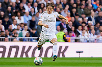 Luka Modric of Real Madrid during La Liga match between Real Madrid and Atletico de Madrid at Santiago Bernabeu Stadium in Madrid, Spain. February 01, 2020. (ALTERPHOTOS/A. Perez Meca)<br /> 01/02/2020 <br /> Liga Spagna 2019/2020 <br /> Real Madrid - Atletico Madrid  <br /> Foto Alterphotos / Insidefoto <br /> ITALY ONLY