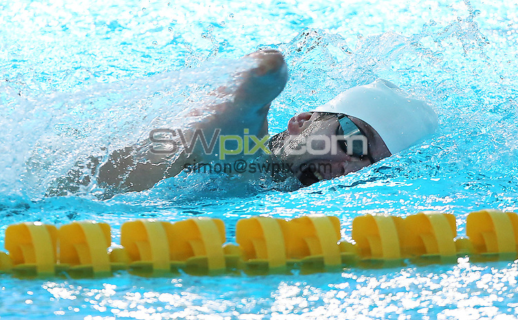 PICTURE BY VAUGHN RIDLEY/SWPIX.COM - Swimming - IPC Swimming World Championships 2013 - Parc Jean-Drapeau Aquatic Complex, Montreal, Canada - 12/08/13 - Ireland's Darragh McDonald wins Gold in the Men's 400m Freestyle S6 Final.