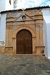 Historic church doorway, Nuestra Señora de la Regla, Pajara, Fuerteventura, Canary Islands, Spain