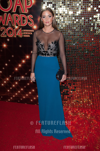 Jacqueline Jossa arriving for the 2014 British Soap Awards, at the Hackney Empire, London. 24/05/2014 Picture by: Dave Norton / Featureflash