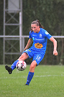 20200819, Sint-Amandsberg , GENT , BELGIUM : Gent's Fran Mersman pictured during a friendly soccer game between KAA Gent ladies and RC Lens ladies in the preparations for the coming season 2020 - 2021 of Belgian Women's SuperLeague and French second division , Wednesday 19 th of August 2020 in JAGO Sint-Amandsberg / Gent, Belgium . PHOTO SPORTPIX.BE | STIJN AUDOOREN