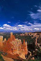 730750060 late afternoon cloud formations float over the red rock hoodoos in agua canyon in this view from the canyon rim in bryce canyon national park utah united states