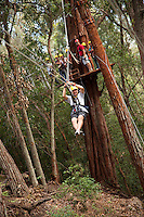 Family going Ziplining on the Big island with Kohala zipline