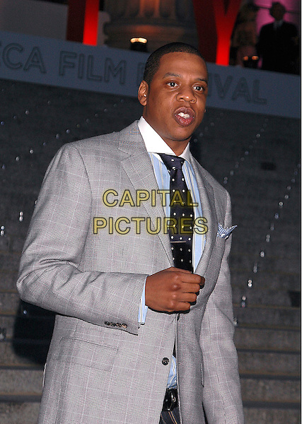 JAY Z.Annual Vanity Fair Party to celebrate the Tribeca Film Festival at the State Supreme Court in downtown Manhattan, New York, USA, 20 April 2005..half length grey suit tie jacket jay-z .Ref: ADM.www.capitalpictures.com.sales@capitalpictures.com.©Patti Ouderkirk/AdMedia/Capital Picture.
