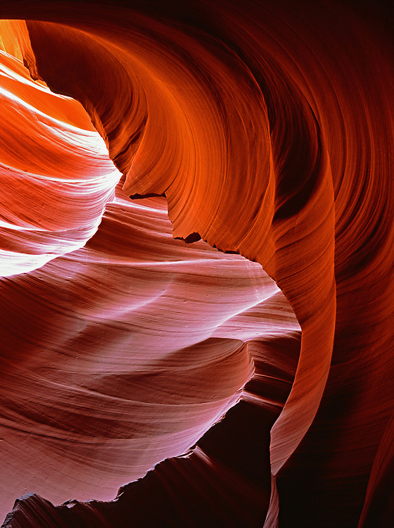 Swirling rock formations within Lower Antelope Canyon on the Navajo Nation near Page, Arizona, USA