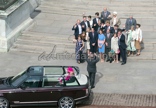 12 June 2016 - London, England - Queen and Prince Philip. The Patrons Lunch 2016 during celebrations for the Queens 90th Birthday held at The Mall London. Photo Credit: ALPR/AdMedia
