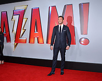LOS ANGELES, CA. March 28, 2019: Zachary Levi at the world premiere of Shazam! at the TCL Chinese Theatre.<br /> Picture: Paul Smith/Featureflash