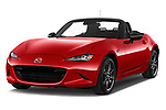 2016 Mazda MX-5 Skycruise 2 Door Convertible Angular Front stock photos of front three quarter view
