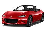 2016 Mazda MX-5 Skycruise 2 Door Convertible Angular Front stock photos of front three quarter view