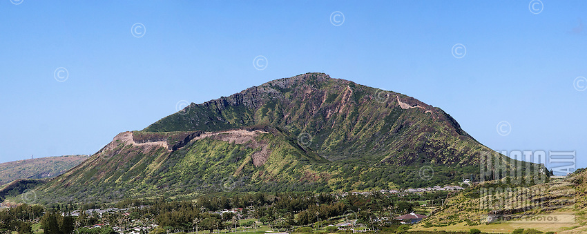 Koko Crater, the home of Koko Crater Botanical Garden in east O'ahu