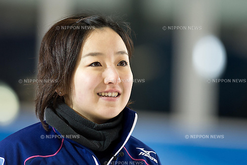 Satsuki Fujisawa (JPN), .MARCH 17, 2013 - Curling : .World Women's Curling Championship 2013, match between Japan and Denmark at Volvo Sport Center, Riga, Latvia, (Photo by Enrico Calderoni/AFLO SPORT)