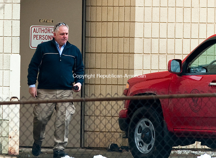 PLYMOUTH, CT 17 JANUARY 2013- 011713JS02-- Plymouth Highway Superintendent James W. Schultz leaves work at the town maintenance garage on Thursday. .Jim Shannon Republican American .